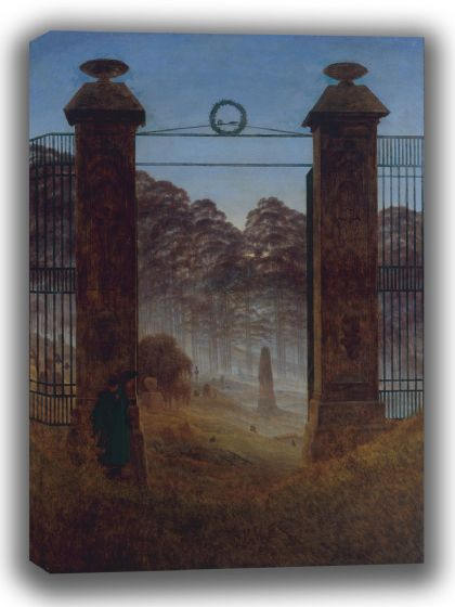 Friedrich, Caspar David: The Cemetery. Fine Art Canvas. Sizes: A4/A3/A2/A1 (003896)